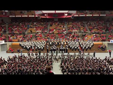 Granville High School Marching Blue Aces at OSU Skull Session