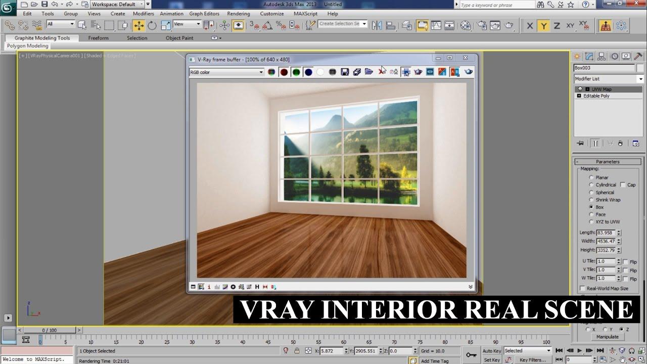 Vray Physical Camera Settings Interior