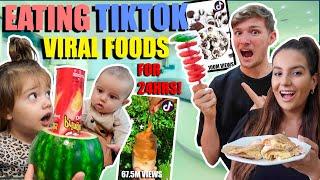 EATING JUST TikTok VIRAL FOODS FOR 24 HOURS!!!
