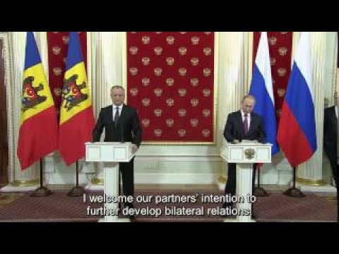 Putin: Russia is looking forward to cooperate with new Moldovan president Dodon