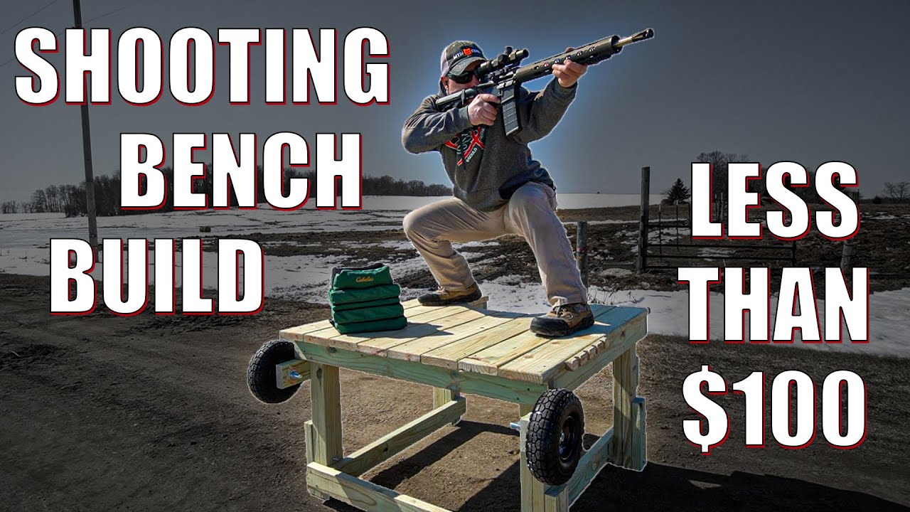 Shooting Bench Build  🔨 for Less than $100 💵 | Gould Brothers