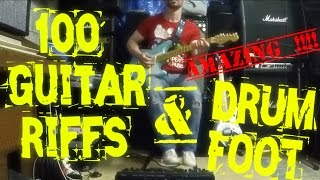 100 Guitar Riffs One Man Band (Steackmike Guitar&Drum Foot)