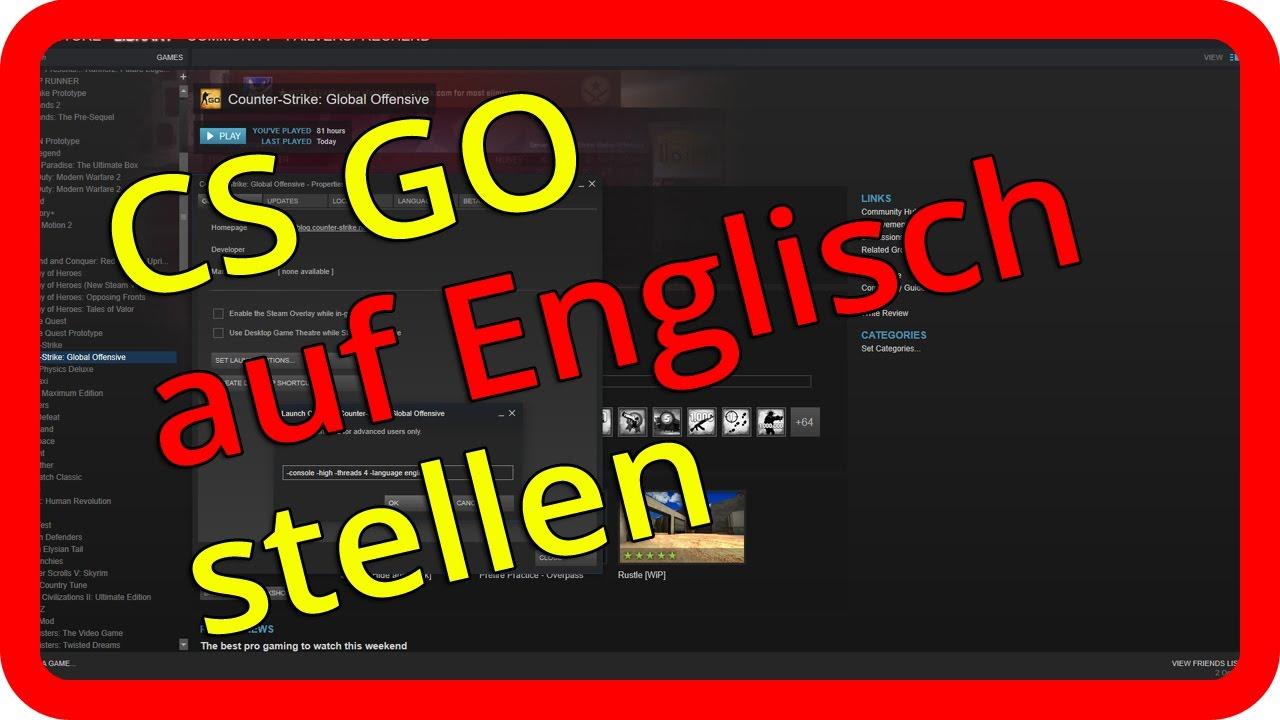 Cs Go Auf Englisch Stellen