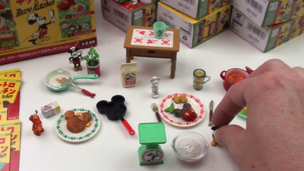 Retro Play Kitchen Set Mickey Mouse Retro Kitchen Full Set Youtube