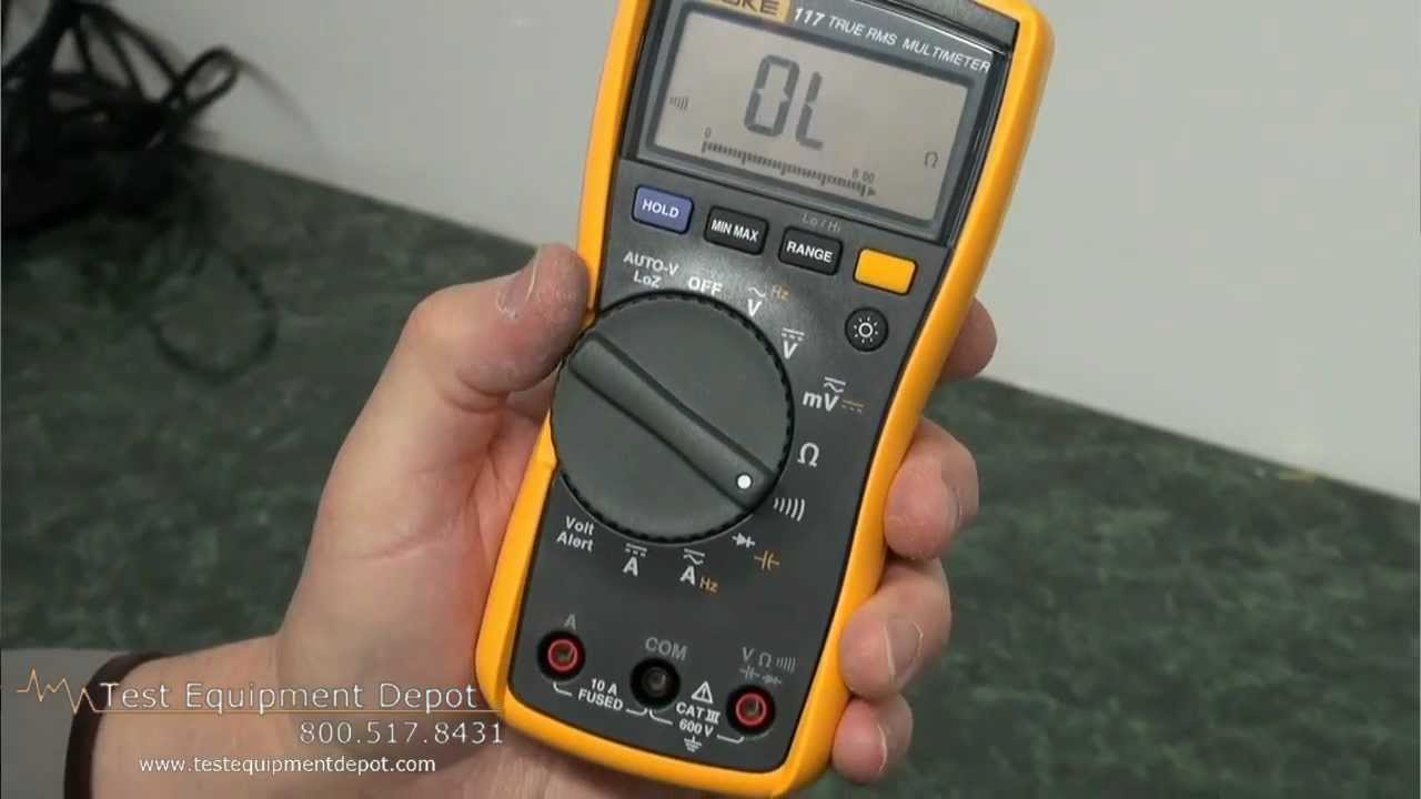 Fluke 117 Electrician's Multimeter with Non-Contact Voltage Detector
