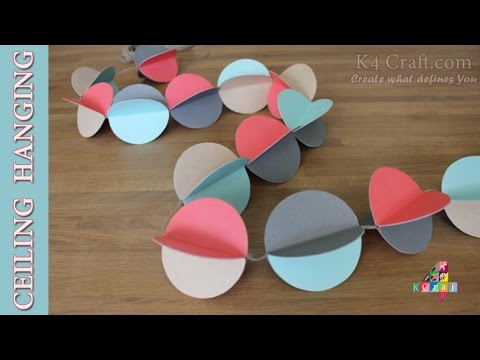 """DIY: How to make Paper """"Ceiling / Wall Hanging"""" Decoration for Home -Christmas Special"""