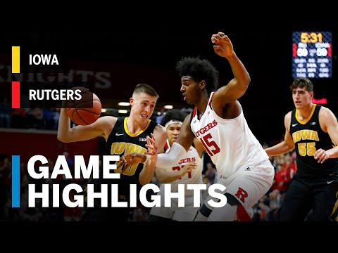 Highlights: Iowa at Rutgers | Big Ten Basketball