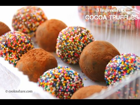 Cocoa Truffles - 3 Ingredients