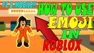 COMMENT À CHAT EMOJI'S ON ROBLOX!! 'Works PC 'Mobile! Roblox