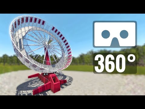 VR 360 video Extreme Carousel Ferris Wheel Flat Ride Roller Coaster POV Ride 360° 4K