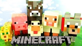 Minecraft Animal Mobs Series 2 Toys Figure Set Fun Toy Review & Unboxing, Mojang
