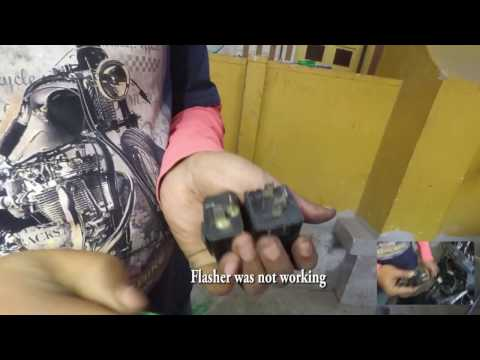 How to install a hazard light by your own  10 minutes connection  moto explorers