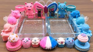 pink-vs-blue-mixing-random-things-into-clear-slime-special-series-satisfying-slime-videos-18
