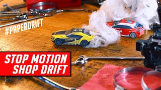 Paper Drift Cars Racing Around Shop - Stop Motion Animation #PaperDrift