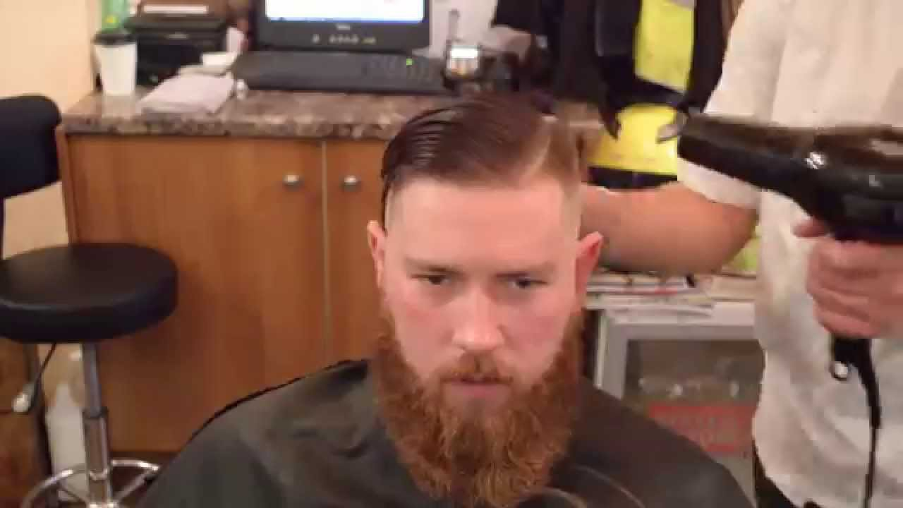 Classic Bald Fade Comb Over And Taming The Beard A Real Master - Classic british hairstyle
