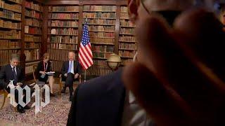 Chaotic scene among media outside Biden-Putin summit