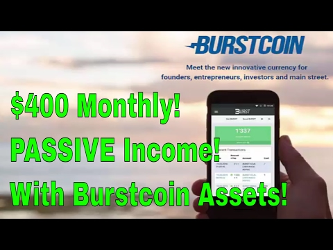 How I make $$$ with Burst Coin Assets | BurstCoin Passive Income