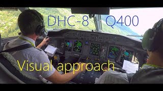 DHC-8 Q400 visual approach