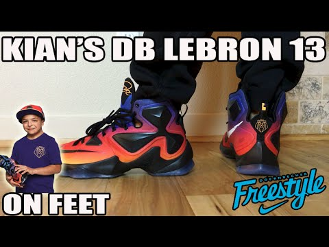 On Feet: Kian's Nike Lebron 13 DB (LBJ13  2015 Doernbecher Freestyle)