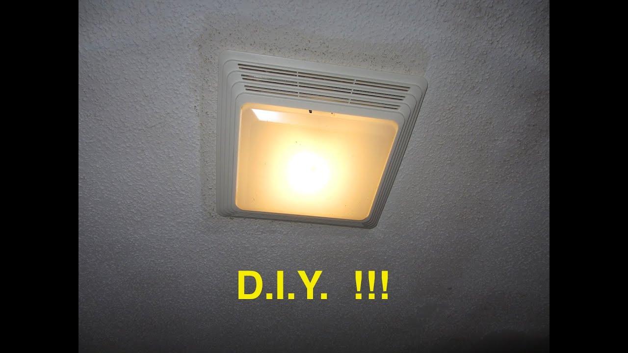 installing a bathroom fan / light - ez - youtube