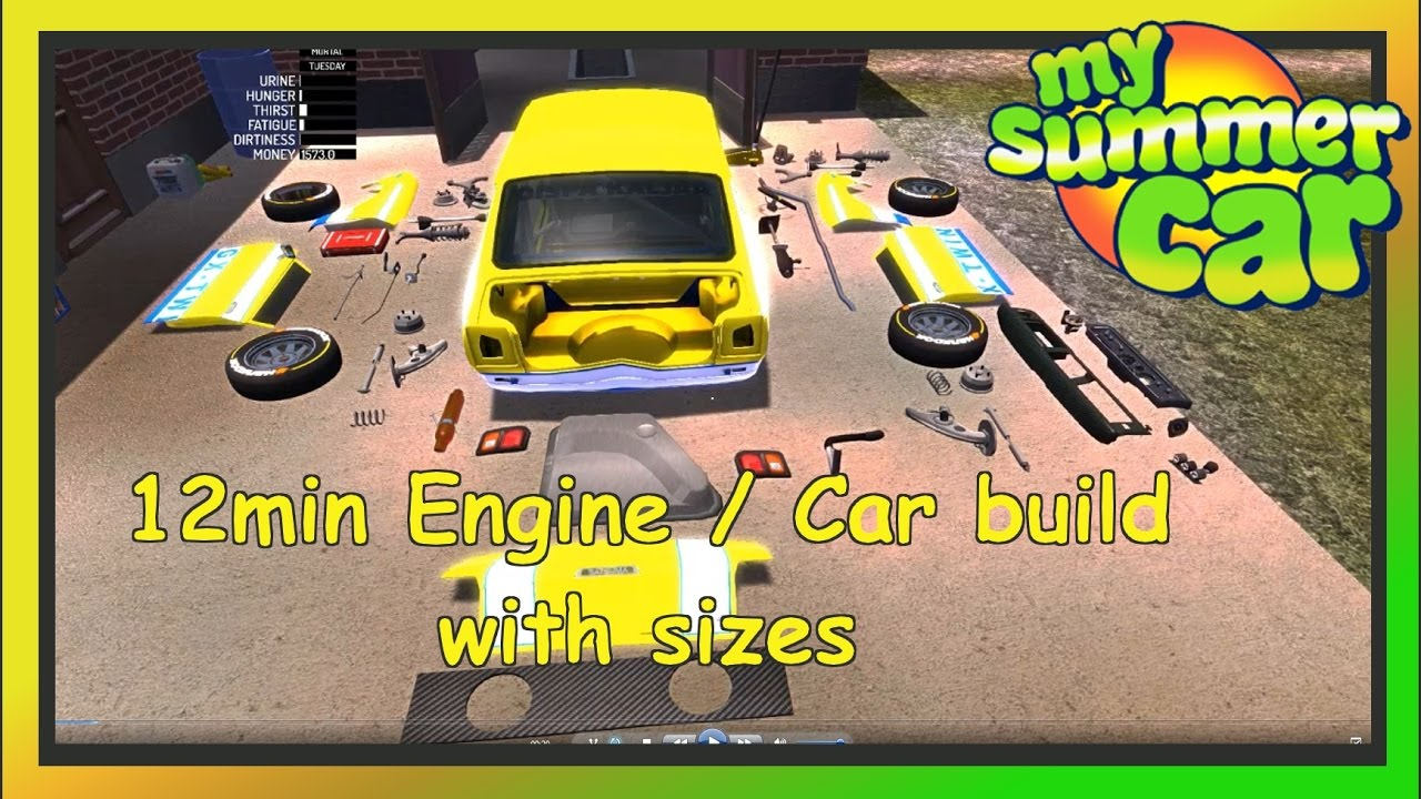 My Summer Car 12min Tutorial Enginecar Build Save Game
