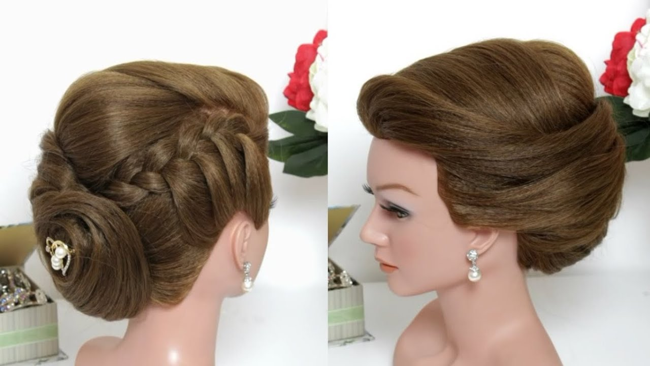 Beautiful Juda Hairstyle With Puff Step By Step Youtube