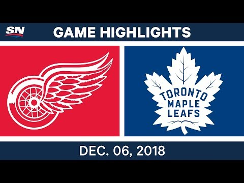 NHL Highlights | Red Wings vs. Maple Leafs - Dec 6, 2018
