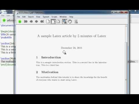 Learn Latex in 5 minutes