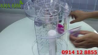 Hướng Dẫn Lắp Ráp Kệ Mỹ Phẩm Xoay 360°C - Khả Kim Beauty