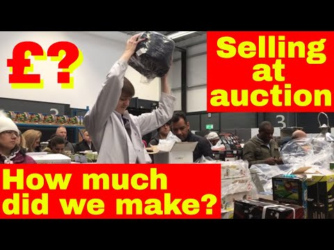 Selling at a live auction - How much did we make??