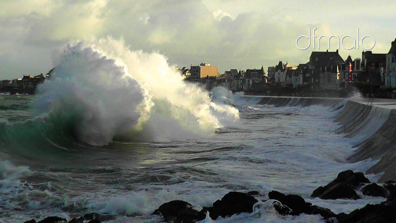 Saint-Malo Grande Marée 2016 Hightide Springflut Nov 2016 - YouTube