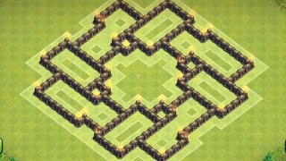 Clash of clans - Town hall 7 (TH7) Trophy Base/Defense Base