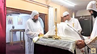 HG Bishop Youssef: Divine Liturgy w/HG Bishop Basil (Live) @ St Mary & St Moses Abbey, TX~04/03/2020