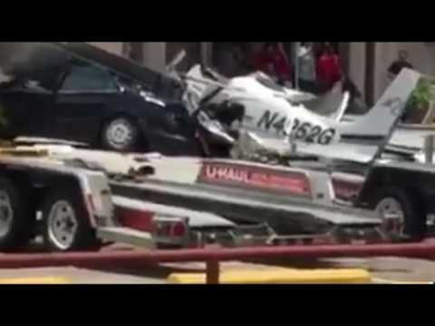 Houston: Small Plane Crashes Into Hardware Store Parking Lot, Witness Footage