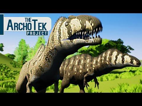 The Archotek Project - Grupo De Acrocanthosaurus, Enfrentando T-Rex! | Dinossauros (#11) (PT-BR)