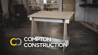 We recently made a drafting table at the Columbus Idea Foundry, using the ShopBot CNC machine. Our in house drafter designed