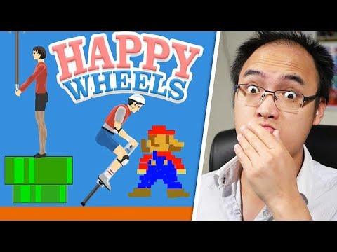 SUPER HAPPY MARIO WHEELS ! | Happy Wheels