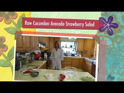 Raw Cucumber Avocado Strawberry Salad
