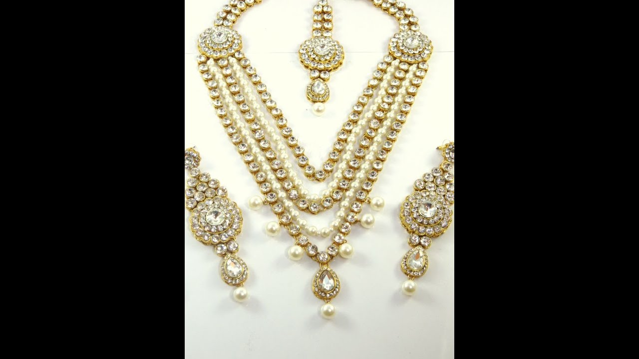 costume set product detail jewelry woman necklace jewellery party indo pearl western wear fashion