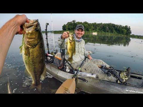 Kayak Fishing Frog Bass Smash Fest With TX Jim