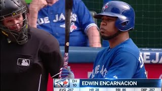 Edwin Encarnacion Hat-Trick (3 HR, 9 RBIs)