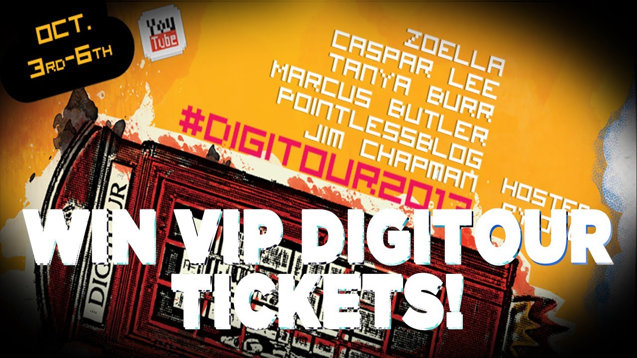 Digitour Vip Ticket Giveaway Youtube