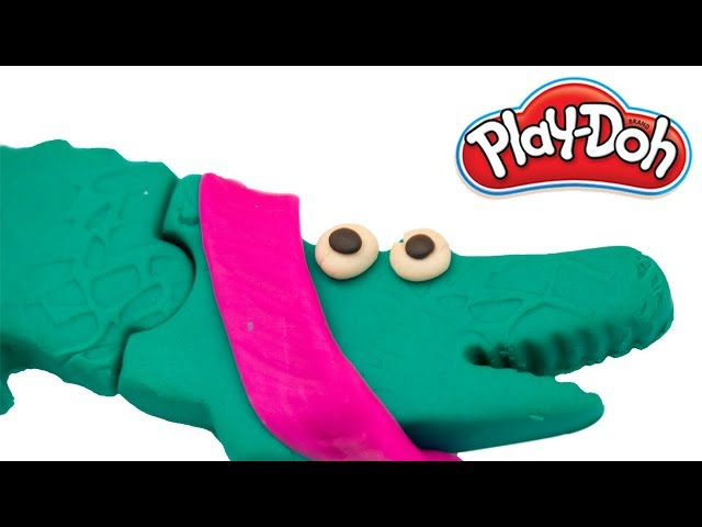 Play Doh Aligator and Giraffe | Learn colors with playdoh | How to make a play doh aligator |