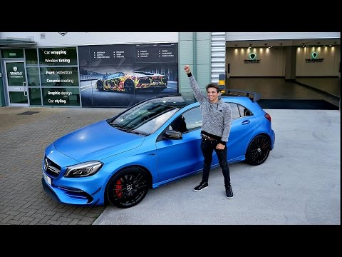 WRAPPING MY MERCEDES A45 AMG!!!