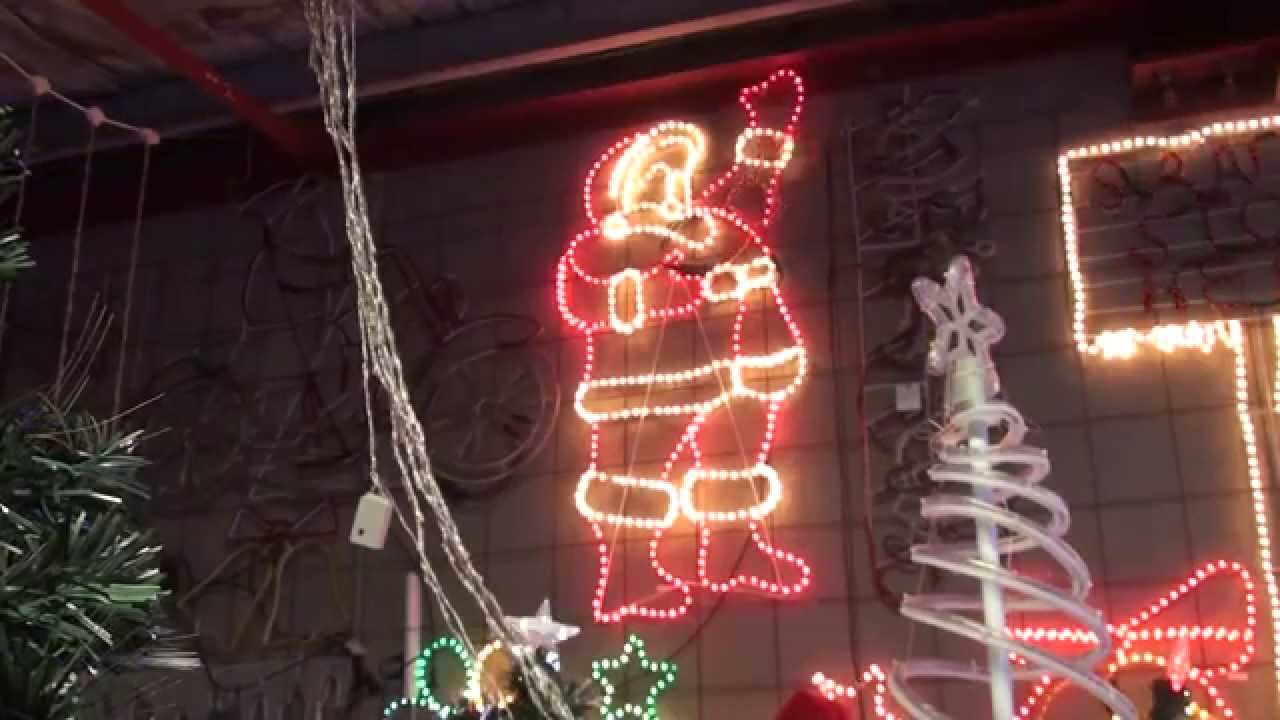 Christmas lighting show display santa waving christmas rope light christmas lighting show display santa waving christmas rope light animated motif youtube aloadofball Choice Image