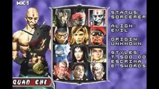 Mortal Kombat Deadly Alliance Skins/Outfits (GBA)
