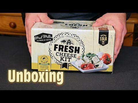 Unboxing the Mad Millie Fresh Cheese Kit