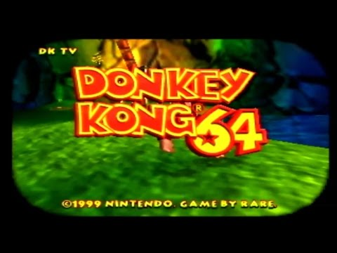 Donkey Kong 64 101% Playthrough - Part 1: Intro and Jungle Japes