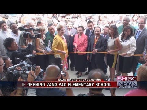 Suab Hmong News:  Vang Pao Elementary School in Fresno, California - Sept 8, 2012