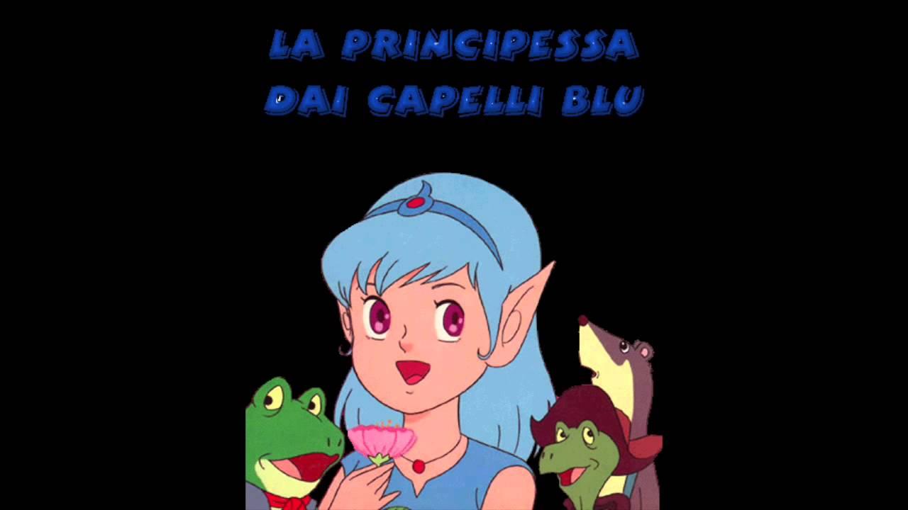 Cover sigla cartone animato la principessa dai capelli blu
